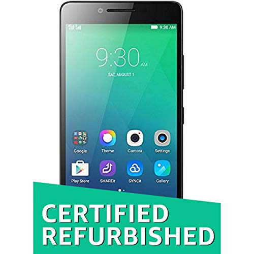 (Renewed) Lenovo A6000 (Black, 8GB)