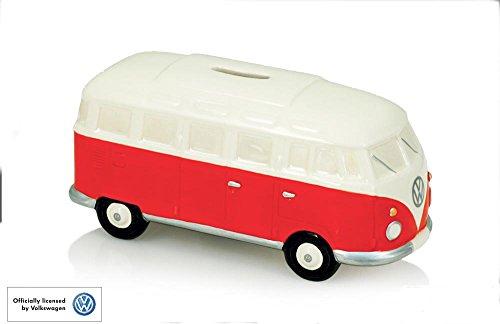 Offizielle VW Campervan Rot Keramik Spardose Bank - Boxed