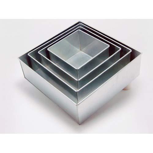 EUROTINS Professionelle Quadrat Kuchenformen 4er Set Backform Cake Pans/tins 6