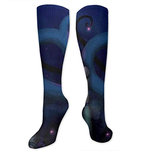 Kotdeqay Robot Love Polyester Cotton Over Knee Leg High Socks Fitted Unisex Thigh Stockings Cosplay Boot Long Tube Socks