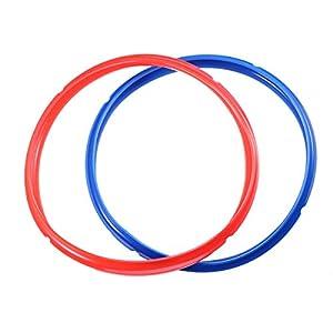 BESTONZON 2er Pack Dichtring für 6 QT Schnellkochtopf – Seal Dauerhaft BPA-frei (Rot/Blau)