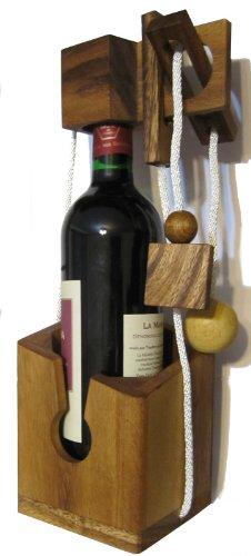 Logoplay 2066 Flaschen-Tresor - Denkspiel aus edlem Holz