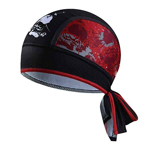 Vektenxi Radfahren Bandanas Sport Beanie Hut Kopftuch Kopf Wraps für Männer Outdoor Reiten Laufen Radfahren Langlebig und nützlich -