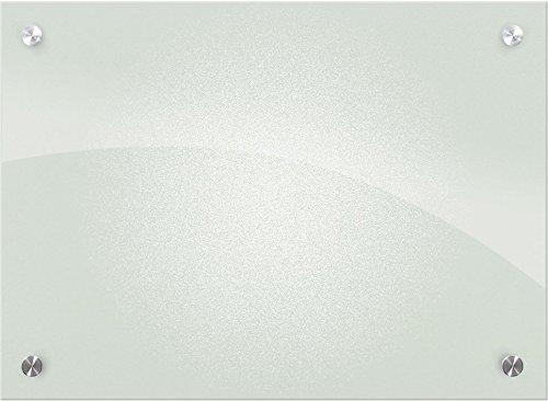 Best-Rite 84072 Enlighten Whiteboard, Hartglas, trocken abwischbar, 0,8 Zoll / 0,6 cm, Schwarz 1.5 x 2 Feet Frosted Pearl