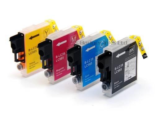 Premier Ink Frère Lc39, Lc985, C/Y/M/Bk - ensemble Multipack de 4 cartouches d'encre Compatible Brother pour Brother Dcpj125, Dcpj315W, Dcpj515W, Mfcj265W, Mfcj410, Mfcj415W Mfcj220, encres d'imprimante (contient : Lc985Bk, Lc985C, Lc985Y, Lc985M)