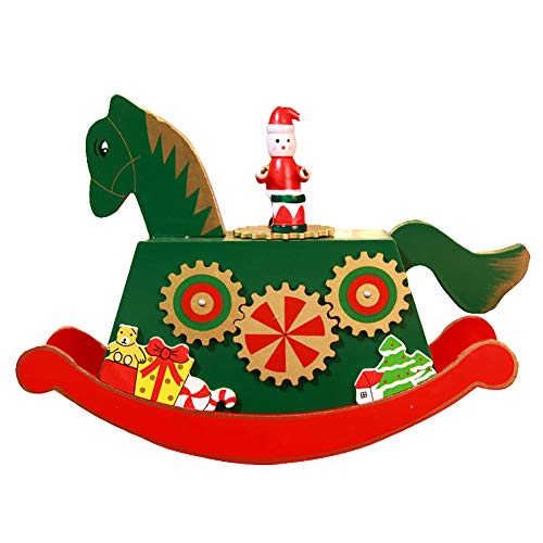 Steellwingsf - Figura Decorativa de Madera con Rueda de Ferris para Caballo de Navidad, decoración de Escritorio, Madera, 2#, Talla única