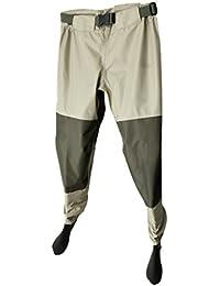 Homyl Bib Pantaloni da Pesca Wader Impermeabile Pioggia Attrezzature per  Vasiere Stagno Fiume bbb99eb93ef