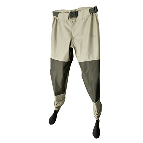 Homyl Bib Pantaloni da Pesca Wader Impermeabile Pioggia Attrezzature per Vasiere Stagno Fiume - Multicolore, M