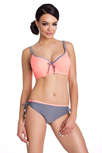 Primo© - 172 - Damen Bikini Set Badeanzug Batching Beachwear Bademode • S - XXL Größe • Neue Kollektion • Frühjahr Sommer 2017 (XXL/M, grau + (Kostüme Pinterest Mädchen)