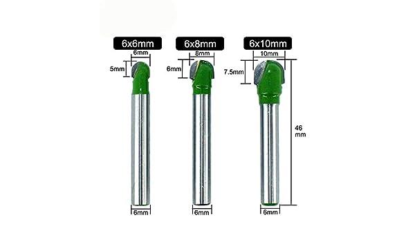 "2pcs 1//4/"" x 5//16/"" 2 Flutes Core Box Router Bit Cutter Wood Cutting Tool 46mm"