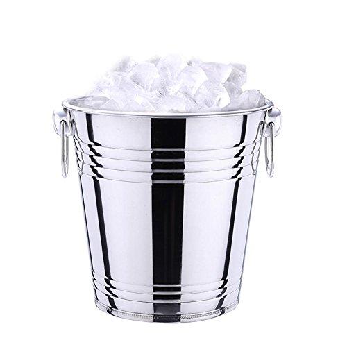 3/5L bier Eiseimer Ice Bucket Eiswürfelbehälter Edelstahl, leicht zu reinigen und sicher zu lagern, die aufwändig hergestellt sind, um den Geschmack von Lebensmitteln zu erhalten