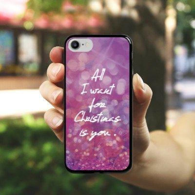 Apple iPhone X Silikon Hülle Case Schutzhülle Weihnachten Liebe Mariah Hard Case schwarz