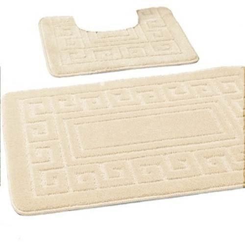 new-greek-style-2-piece-bath-mat-set-non-slip-13-colours-cream