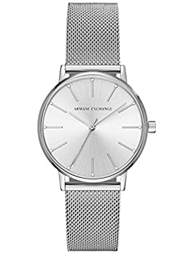 Armani Exchange Damen-Armbanduhr Quarz One Size, silberfarben, silber