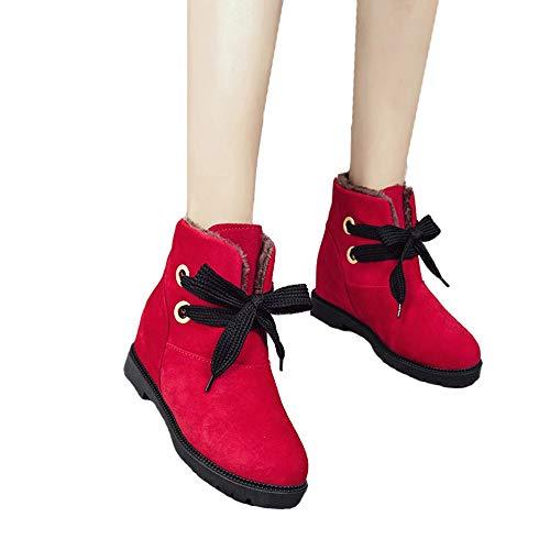 TianWlio Stiefel Frauen Weihnachten Damen Schuhe Stiefeletten Boots Wildleder SAMT Warme Martin Stiefel Schneeschuhe Baumwollstiefel Stiefeletten Schuhe