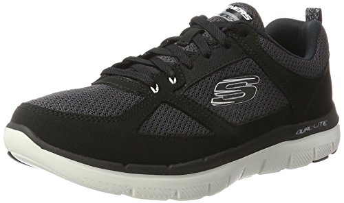 Skechers Flex Advantage 2.0 Scarpe Running Uomo, Nero (Black/White) 43 EU