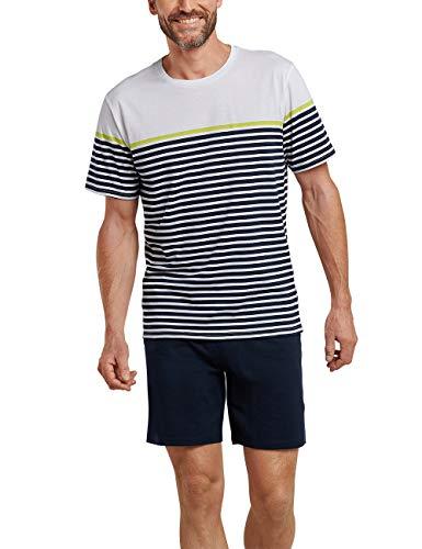 Schiesser Herren Zweiteiliger Schlafanzug Kurz, Mehrfarbig (multicolor 1 904), Medium (Herstellergröße: 050)