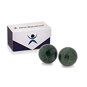 Meditation Qi Gong Kugeln | Yin Yang | Stein Silicon Carbide | Durchmesser 50mm