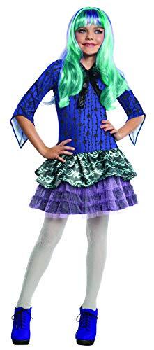 Generique Twyla Monster High-Kostüm für Mädchen 122/134 (7-9 - Monster High Twyla Kostüm Perücke