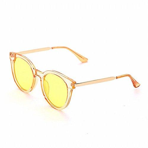LMB Occhiali da Sole Donna Onda Circolare Colore Trasparente Pellicola Pianura Occhiali da Sole Maschili Colore Oceano Film Occhiali da Sole,E,Tutto il codice