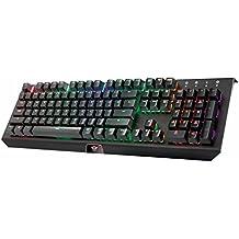 Trust GXT 890 Cada - Teclado mecánico Gaming con iluminación RGB LED, negro,  (QWERTY español)
