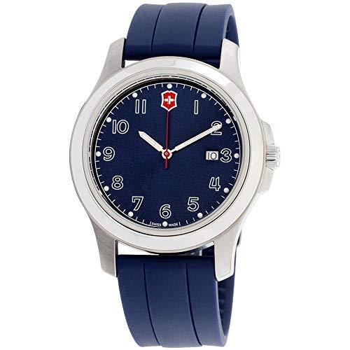 Victorinox Reloj de Mujer Cuarzo Suizo 40mm Correa de Goma Color Azul 26068.CB