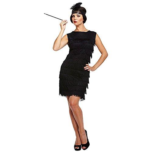 Flapper Girl Fancy Dress Costume (Black) by Blue (Flapper Girl Erwachsene Kostüme)