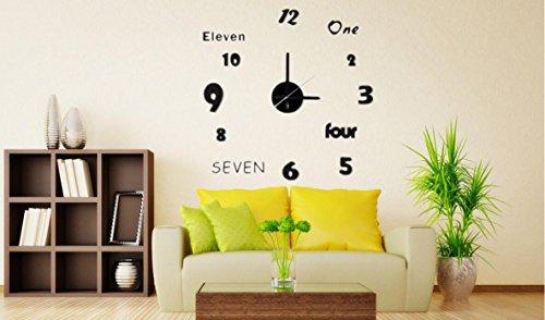 Shuangklei Uhr Wall - Aufkleber Wohnzimmer Wanduhr Stumm Quarz - Uhr Dekoration Mode Wand - - Karikatur-wand-uhr