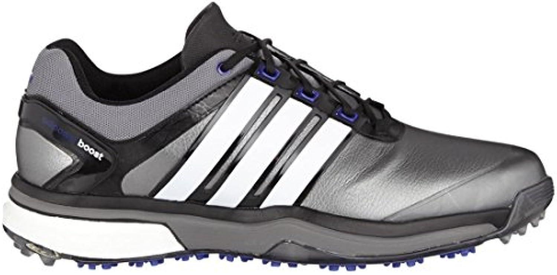 Adidas Mens Adipower Boost Golf Shoes 2015 Mens Dark Grey/White-Metallic Silver 9.5 Regular Fit Mens Dark
