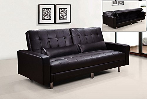 Divano Letto Bianco Ecopelle : Bagno italia divano letto con vano contenitore bianco nero marrone