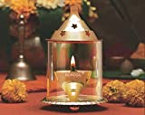 Borosil Akhand Diya (Medium, Brass)