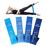 VOLUEX Fitnessbänder 4-Set Widerstandsbänder Resistance Bands mit Tasche, Naturlatex Fitnessband Gymnastikband für Stretching, Krafttraining, Physiotherapie, Übungsband Bands für Damen Yoga Pilates