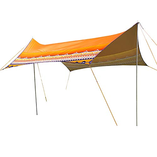 DWhui Beach Canopy Awning Sun Shelter with Poles Waterproof Beach Shade Pergola Canvas Camping Parasol Gazebo Zelte beherbergen Campingzelte