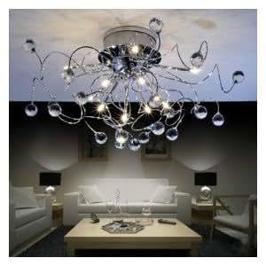 Modern Crystal Chandelier With 11 Lights Crystal Ceiling Light Dining Room Lights Living Room