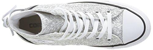 Converse, Chuck Taylor All Star Femme Animal Tri Zip HI, Sneaker, Donna bianco (Weiß (33 BLANC/ARGENT))