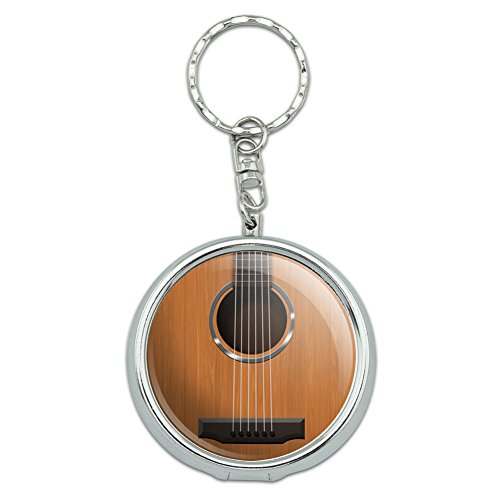 portable-travel-size-pocket-purse-ashtray-keychain-music-musical-instruments-acoustic-guitar-strings