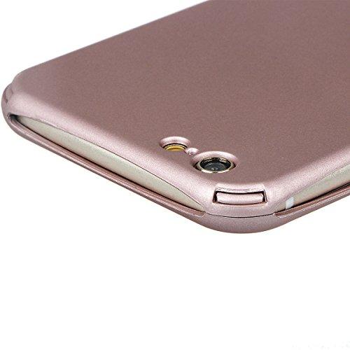 """xhorizon TM Protection à 360 Degrés 2 en 1 Housse Fine Couverture avec écran Verre Trempé Protecteur pour iPhone 6 Plus(5.5"""") Rose d'or"""
