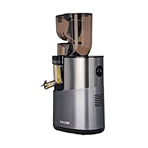 BioChef Atlas Whole Slow Juicer Pro - Estrattore di Succo, 400 Watt, 40 RPM, estrattore a freddo. Garanzia a vita sul motore (Argento) - 2020 -