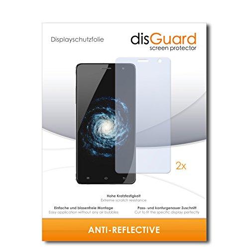 disGuard® Bildschirmschutzfolie [Anti-Reflex] kompatibel mit Cubot H1 [2 Stück] Entspiegelnd, Matt, Antireflektierend, Extrem Kratzfest, Anti-Fingerabdruck - Panzerglas Folie, Schutzfolie