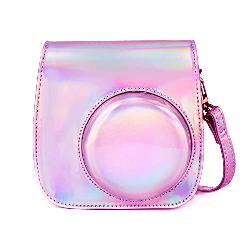 Leebotree Tasche für Fujifilm Instax Mini 9, Schutztasche aus Weichem Kunstleder mit Schulterriemen und Tasche für Fujifilm Instax Mini 8 8+ / Mini 9 Sofortbildkamera (Magisches Rosa)