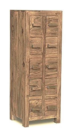 Kuba natur 10CD-Schrank Schublade (Natural Wood Cabinet)
