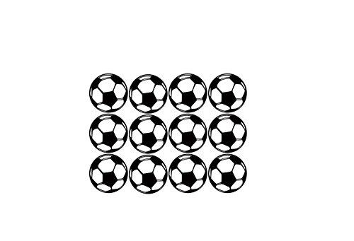 Lovemay 12 pcs Wandtattoo Leuchtender Fußball Wandsticker Wandaufkleber Einfach zu installieren für Wohnzimmer Schlafzimmer,Größe:29 * 20cm