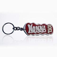 Idea Regalo - Portachiavi in legno fatto a mano personalizzato con la scritta Nonna TVB, da indossare o per fare un regalo originale.