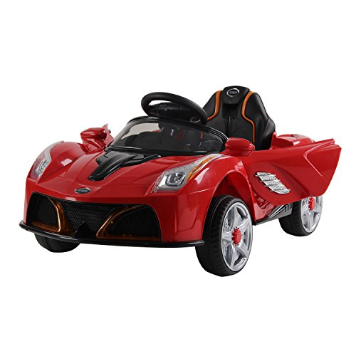 HOMCOM Children Kids Electric Ride on Car 2 x Motors 12V Battery Operated Toy Car w/Remote Control (Red)