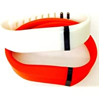 Comparador de precios ! Large L 1pc Red (Tangerine) 1pc White Replacement Bands + 1pc Free Large Grey Band With Clasp for Fitbit FLEX Only /No tracker/ Wireless Activity Bracelet Sport Wristband Fit Bit Flex Bracelet Sport Arm Band Armband by Pl - precios baratos