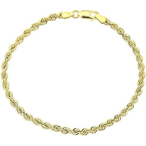 18kt. /750, cordoncino oro giallo Bracciale 2.50mm