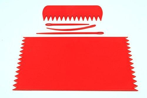 Webrahmen, Rot, 95 x 160 mm mit Kamm &Needles. IDEAL für das Handy Socken usw.),