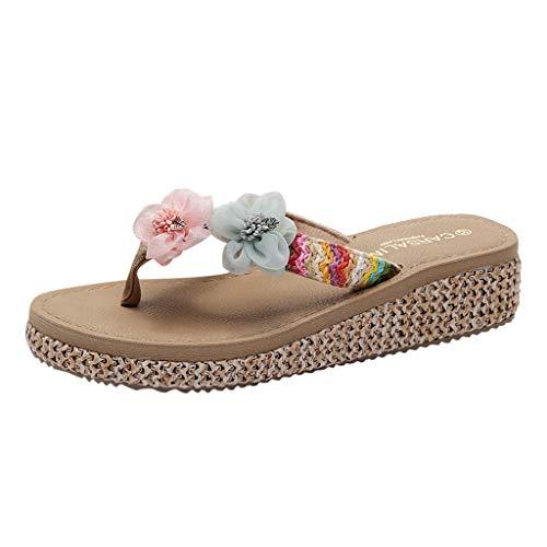 ☀NnuoeN☀ Infradito Scarpe Donna Sandali Donna Zeppa Piattaforma Ciabatte da Spiaggia Pantofole da Mare Scarpette Donna Platform Casuali Morbide Sandali - Sandali da Donna da Estate