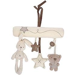 Bebé Mignon música de peluche para cochecito de bebé juguetes de peluche conejo colgante de en forma de estrella