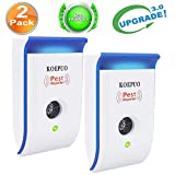 KOEPUO Ultrasonic Pest Repeller, Electronic Pest Repellent Indoor Plug In Pest Control